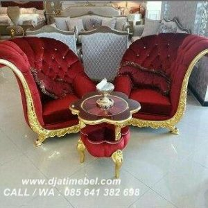 Sofa Santai Kelopak Bludru Mewah