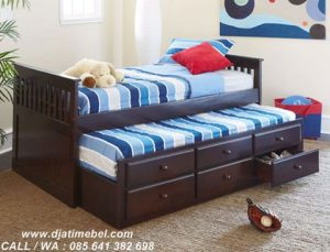 Tempat Tidur Anak Laci Kaki Modern