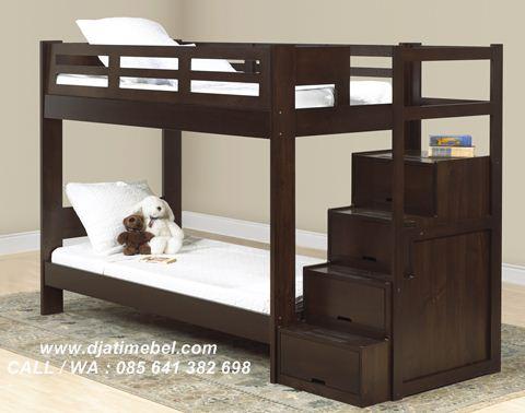 Gambar Tempat Tidur Anak Susun Jati Minimalis