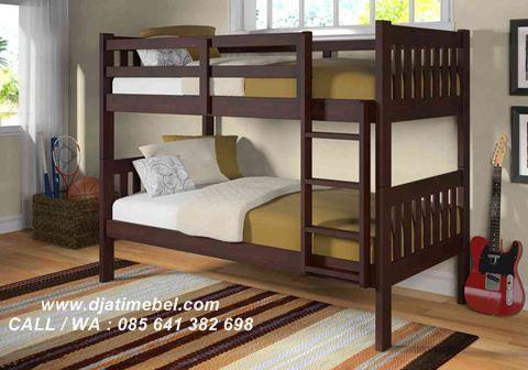 Tempat Tidur Anak Tingkat Jati Minimalis Modern