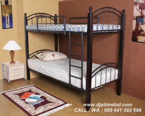 Gambar Tempat Tidur Anak Tingkat Jati Modern