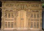 Pintu Gebyok Jati Ukir Ramayana