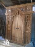 Pintu Rumah Gebyok Model Kupu Tarung