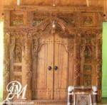 Pintu Rumah Utama Model Gebyok Ukir