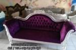 Sofa Santai Bangku Ukir Silver