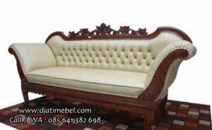 Sofa Santai Malas Ukir Jati Mewah