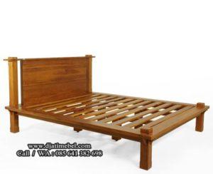 Tempat Tidur Modern Jati Minimalis