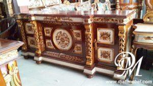 Bufet Jati Nusantara Marmer Mewah