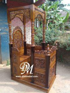 Mimbar Masjid Kanopi Ukir Minimalis