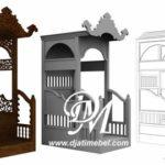 Mimbar Masjid Minimalis Ukir Model Kubah