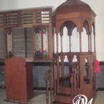 Mimbar Masjid Model Atap Kubah Ukir Mewah