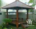 Gazebo Taman Rumah Kayu Glugu