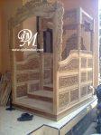 Mimbar Masjid Model Gapura Jati Ukir