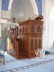 Mimbar Masjid Model Tingkat Tangga Ukir Jati