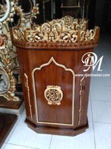 Mimbar Podium Masjid Ukir Emas Mewah