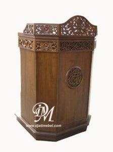Mimbar Podium Masjid Ukir Mewah