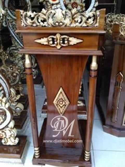 Podium Masjid Minimalis Ukir Emas