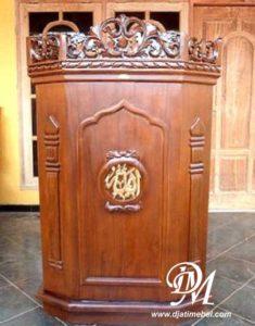 Podium Masjid Sederhana Ukir Jepara