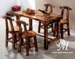 Set Kursi Makan Antik Kayu Trembesi Modern
