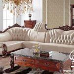 Sofa Tamu Sudut Kancing Model L