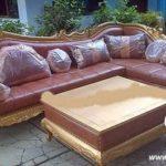 Sofa Tamu Ukiran Emas Model L