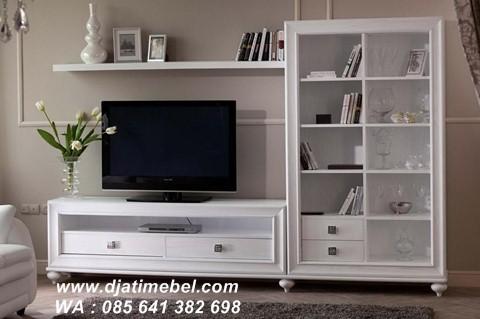 Set Lemari Bufet Tv Klasik Mewah