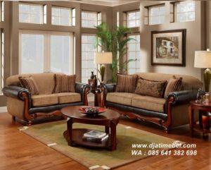 Kursi Sofa Set Jati Ruang Tamu Mewah