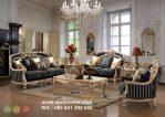 Kursi Sofa Tamu Eropa Klasik Vintage