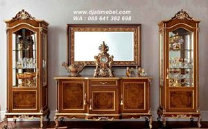 Set Bufet Tv Klasik Jati Solid