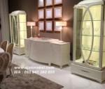 Set Bufet Tv Klasik Lemari Kaca