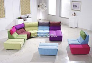 Set Sofa Klasik Fabric Cantik Terbaru