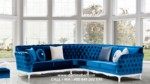 Sofa Tamu Sudut Chester Klasik Eropa