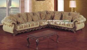 Sofa Tamu Sudut Terbaru Klasik Mewah