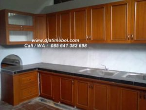 Kitchen Set Jati Model Minimalis