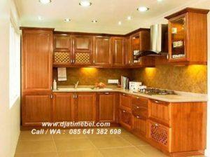 Kitchen Set Kayu Jati Natural Brown