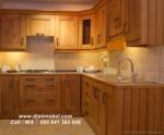 Set Dapur Jati Mewah Brown Klasik