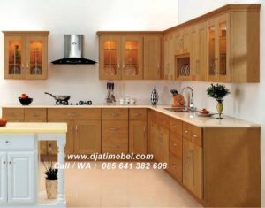 Set Dapur Jati Minimalis Solid