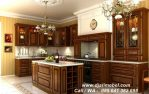 Set Dapur Minimalis Kayu Jati Brown