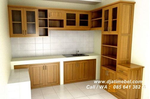Set Dapur Solid Minimalis Jati Brown