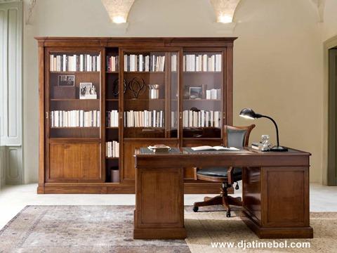 Set Lemari Buku Kantor Jati Mewah