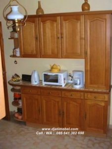 Kitchen Set Mini Minimalis Jati Solid
