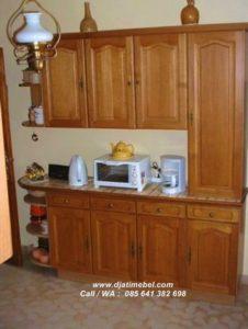 Kitchen Set Mini Minimalis Jati Solid