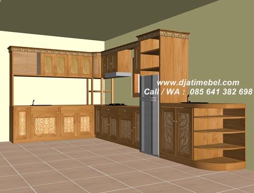 Kitchen Set Model Ukir Mewah Terbaru