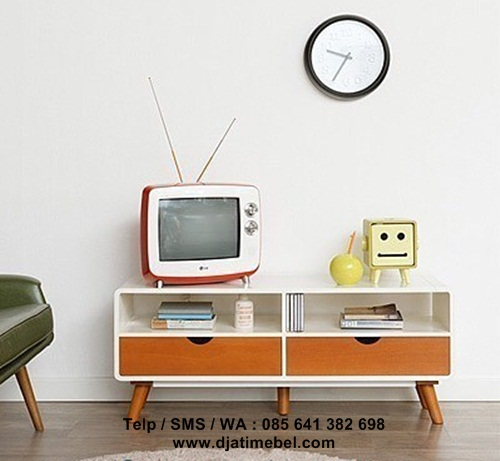 Set Bufet Tv Retro Vintage Duco Harga Murah