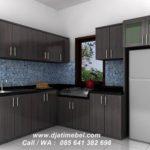Set Kitchen Jati Model Minimalis Jepara