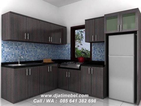 Set Kitchen Jati Model Minimalis Jepara