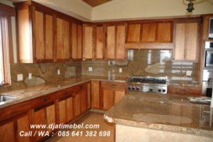 Set Kitchen Minimalis Jati Solid Jepara