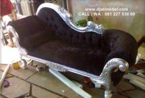 Bangku Sofa Louis Angsa Ukir Silver