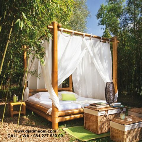 Dipan Outdoor Kanopi Bambu Terbaru