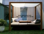 Tempat Tidur Gazebo Kanopi Outdoor Jati